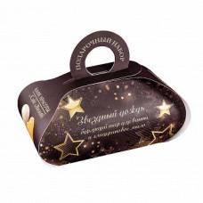 Подарочный набор   ЗВЁЗДНЫЙ ДОЖДЬ   твердое глицериновое мыло ручной работы, бурлящий шар для ванны   Кафе Красоты