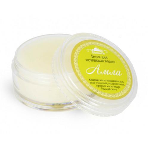 Воск для кончиков волос  АМЛА  устраняет сухость и ломкость, интенсивно питает, увлажняет, делает волосы мягкими и шелковистыми  15g СпивакЪ